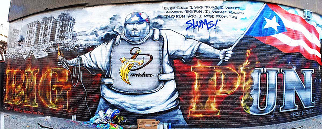 Big pun the one and only son of tony rugged ones for Big pun mural bronx